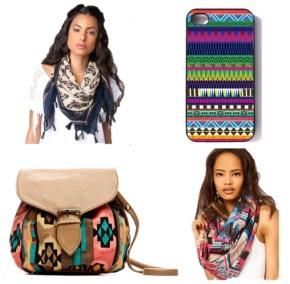 Complementos estampado navajo