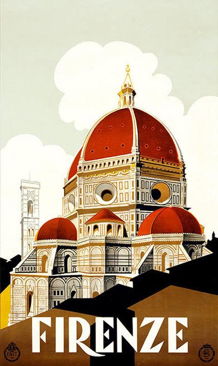 Postal Florencia Vintage